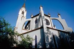 Church, low angle perspective. Church, Orlando, Florida, low angle perspective Royalty Free Stock Photos
