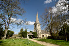 Church at Lower Slaughter in Cotswolds Royalty Free Stock Photography