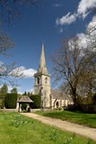 Church at Lower Slaughter in Cotswolds Stock Photography