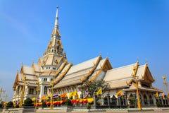Church Luang Por Sothon. In the thailand stock image