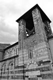 Church in Lucca. Black and white picture of a small church Royalty Free Stock Images