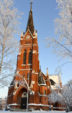 Church in Lulea city, north of Sweden Stock Images