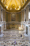 Church. In the luxury palace in caserta Stock Image