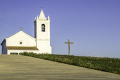 Church in Luz New Village, built in 2002. Portugal. Stock Photography