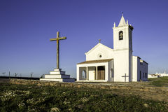 Church in Luz New Village, built in 2002. Portugal. Royalty Free Stock Photo