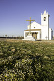 Church in Luz New Village, built in 2002. Portugal. Royalty Free Stock Photography