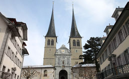 Church in Luzern Royalty Free Stock Photography
