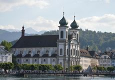 Church in Luzern Royalty Free Stock Image