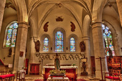 Church of Lyons la Foret in Normandie Stock Photos