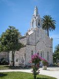 Church Made ​​of Seashells In La Toja, Galicia, Spain Royalty Free Stock Image