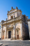 Church of Madonna del Carmine. Manduria. Puglia. Italy. Stock Photography
