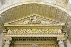 Nardò lecce italy. Church of the madonna del carmine nardò lecce italy Royalty Free Stock Images