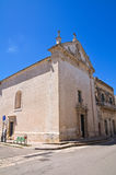Church of Madonna delle Grazie. Maglie. Puglia. Italy. Royalty Free Stock Photo
