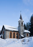 Church.Madonna di Campiglio Royalty Free Stock Photo