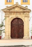 Church main door in Cartagena royalty free stock image