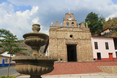 Church in main Park of Olaya, Antioquia, Colombia. Stock Image