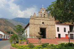Church in main Park of Olaya, Antioquia, Colombia. Royalty Free Stock Photos