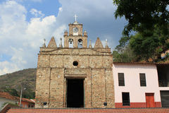 Church in main Park of Olaya, Antioquia, Colombia. Stock Photos