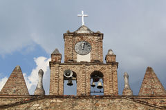Church in main Park of Olaya, Antioquia, Colombia. Stock Photo