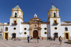Church on the main place of Ronda Royalty Free Stock Images
