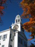 A Church in Maine. A view of the church during a cool autumn morning Royalty Free Stock Photography
