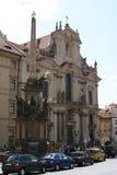 Church_Mala Strana_ Πράγα του Άγιου Βασίλη Στοκ Εικόνες