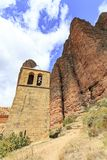 Church in Mallos de Riglos, Spain. In Europe Stock Image