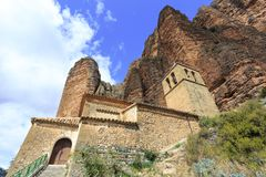 Church in Mallos de Riglos, Spain. In Europe Stock Photo