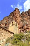 Church in Mallos de Riglos, Spain. In Europe Stock Photography
