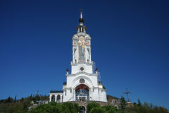 The Church in Malorechenskoye. Church on a background blue sky in Crimea Royalty Free Stock Images