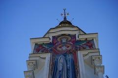 The Church in Malorechenskoye. Church on a background blue sky in Crimea Stock Image