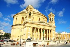 Church in Malta. Church of St. Mary, Mosta, in the island of Malta Royalty Free Stock Image