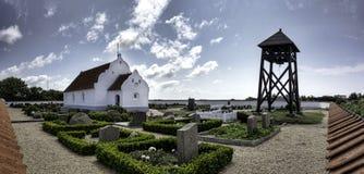 Church on Mando in the wadden sea, Denmark Royalty Free Stock Photos