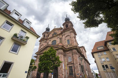 Church in mannheim germany Royalty Free Stock Images