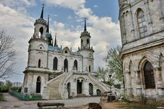 Church in the manor of Bykovo stock images