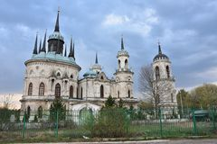 Church in the manor of Bykovo royalty free stock image