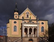 Church Maria Himmelfahrt in Deggendorf, Bavaria Stock Images