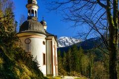 Church Maria Kunterweg by Ramsau Stock Photos
