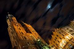 Church of Mariacki. In Crakow, Poland royalty free stock image