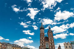 Church of Mariacki. In Crakow, Poland stock photo