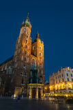 Church of Mariacki. In Crakow, Poland Royalty Free Stock Photography
