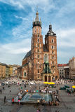 Church of Mariacki. In Crakow, Poland Stock Images