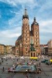 Church of Mariacki. In Crakow, Poland stock images