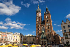 Church of Mariacki. In Crakow, Poland Stock Image