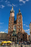 Church of Mariacki. In Crakow, Poland Royalty Free Stock Image