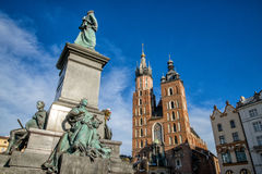 Church of Mariacki. In Crakow, Poland Royalty Free Stock Photos