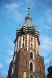 Church of Mariacki or St Marys Church in Krakow Poland Royalty Free Stock Photos