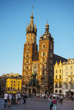Church of Mariacki or St Marys Church in Krakow Poland Royalty Free Stock Images