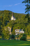 Church Mariahilf, Mondsee,Austria. Church Mariahilf on the hill in Mondsee,Austria Royalty Free Stock Photo