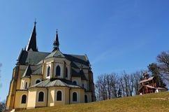 Church at Marian Mount. In Levoca, Slovakia stock photo